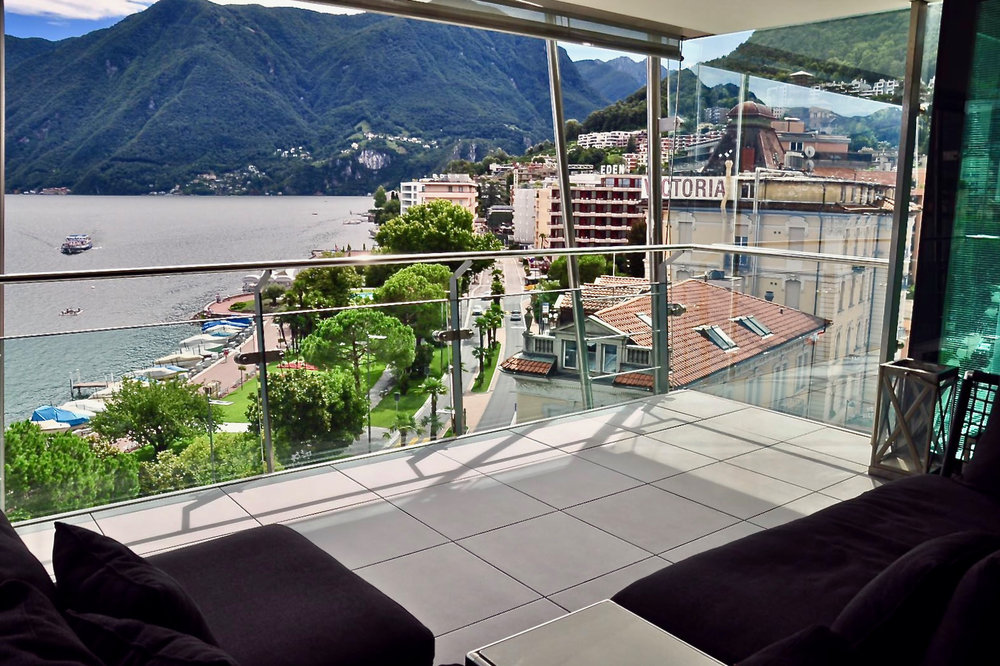 "High standard materials & generously layed out rooms, apartment in the most exclusive residence ""Mantegazza"" in Lugano-Paradiso at Lake Lugano for sale"