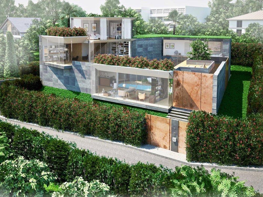 Bauland in Montagnola, nähe Lugano, Schweiz zu verkaufen in prestigeträchtiger Gegend