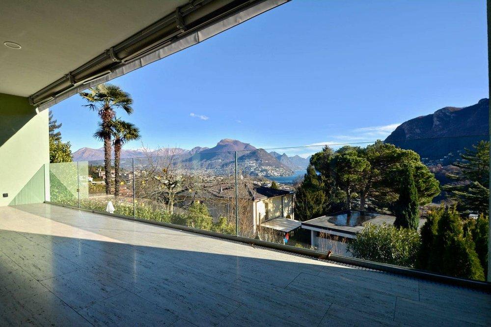 Schöne Terrasse mit Blick auf den Luganersee,Moderne Wohnungen in Montagnola Schweiz zu verkaufen