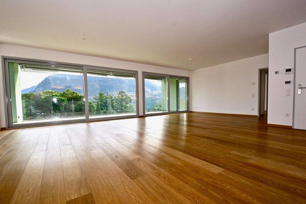 Grade soggiorno, appartamento moderno con bella vista al Lago di Lugano, Ticino in vendita