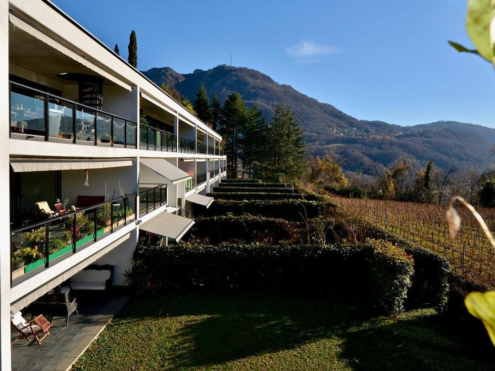 Appartement mit freier Sicht auf den Weinberg in Gentilino nähe Lugano, Schweiz zu verkaufen