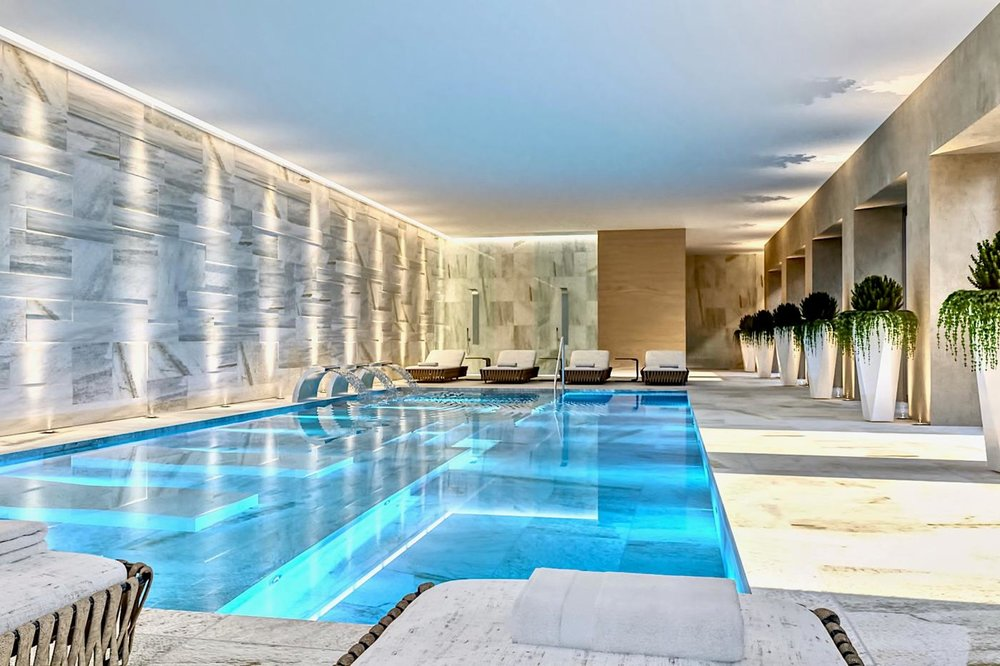 Modern & large wellness area as well as gym