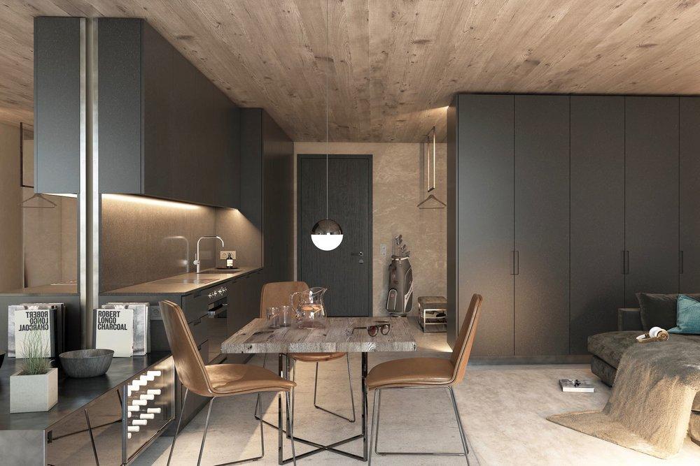 Chick apartment with Smart Studio concept - Living area ca.: 34 m²Bathrooms: 1Ref. 88516-1