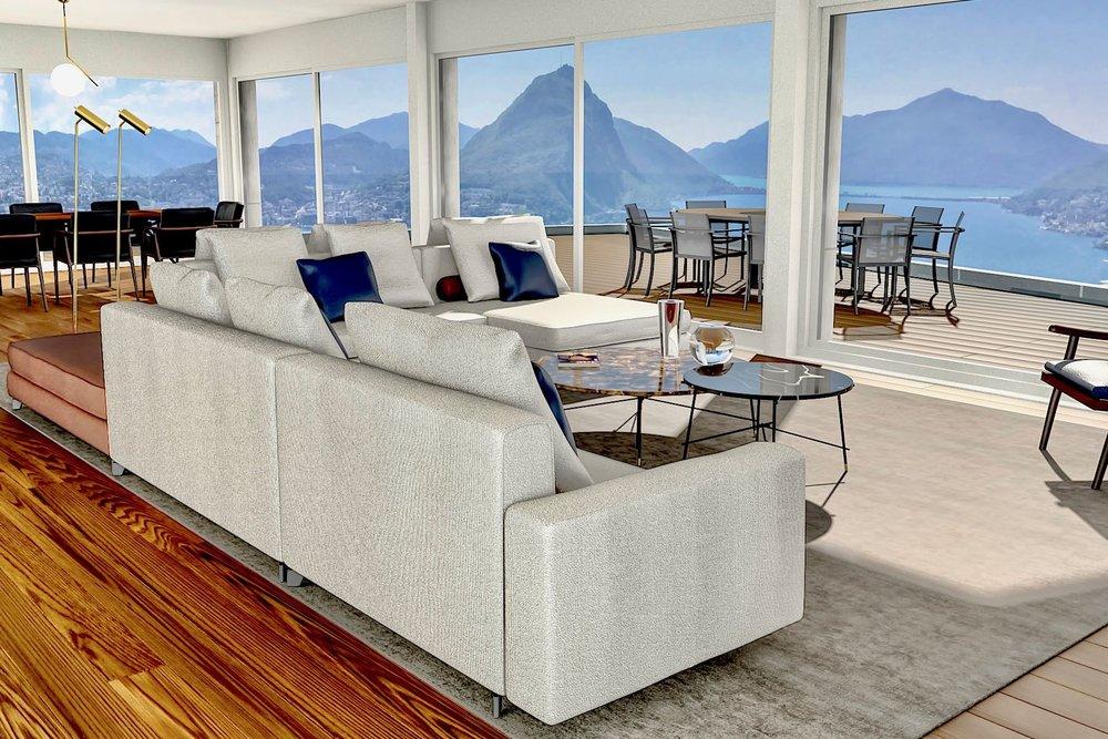 Appartamento di 7 locali con giardino - Area abitabile ca.: 250 m²Area terrazza: 58 m²Camere: 4Ref. 88589-3
