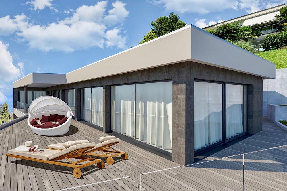 7 Zimmer Penthouse-Wohnung - Wohnfläche ca.: 300 m²Terrassenfläche: 117 m²Schlafzimmer: 4Ref. 88589-4