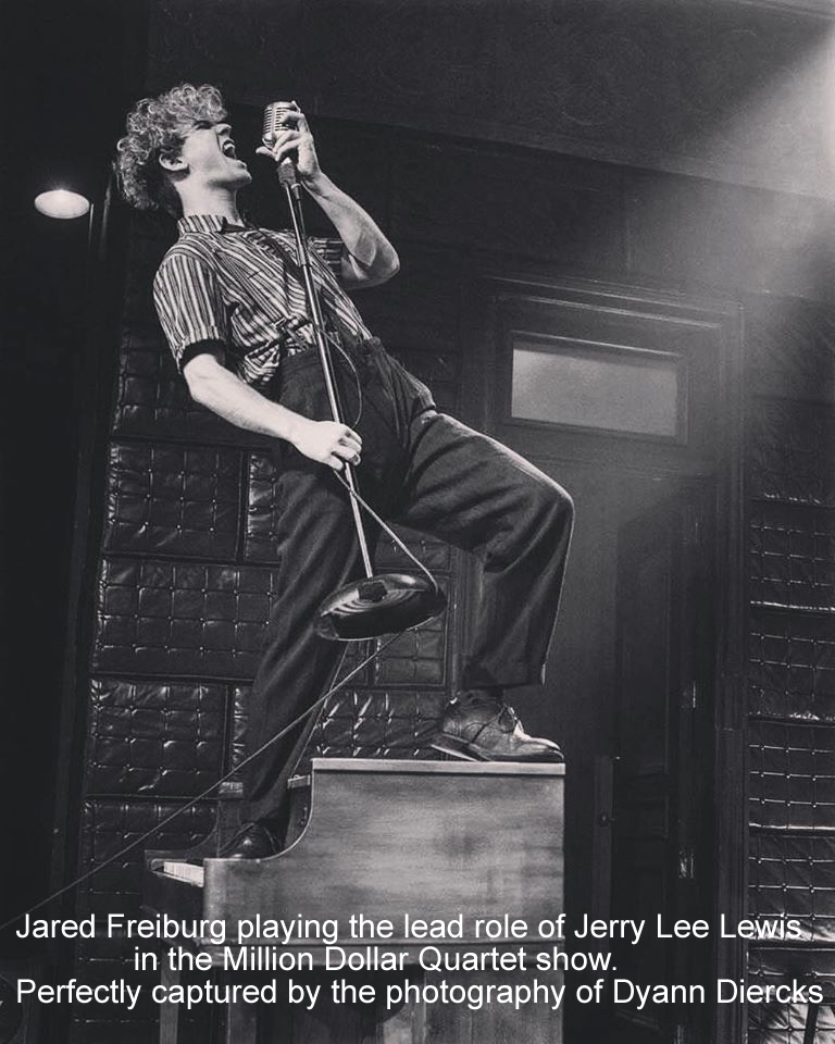 Jared playing the role of Jerry lee Lewis - perfectly captured by the camerawork of Dyann Diercks