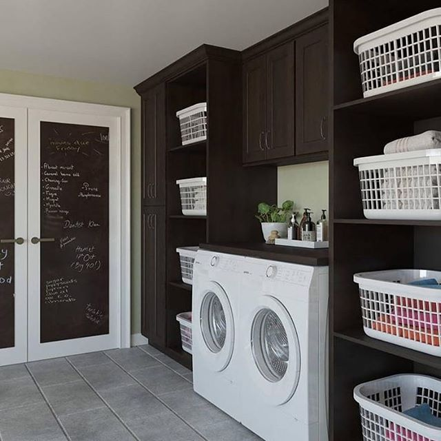 Love this laundry room inspo from @thertastore ❤  This solves the problem of where to store all those laundry baskets! Where do your laundry baskets live?  If you are thinking of a remodel to make your home work better now is a great time to plan a meeting with your architect and review your options.  Everything old can be made new again.🏠🏡🏘
