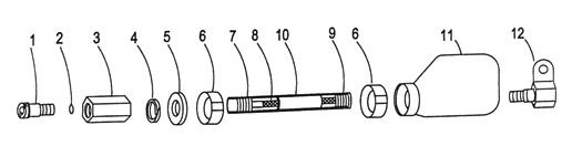 Parts diagram for Symex S-15 360 Swivel Cables