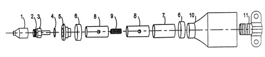 Parts diagram for Symex S-8 Swivel Cables