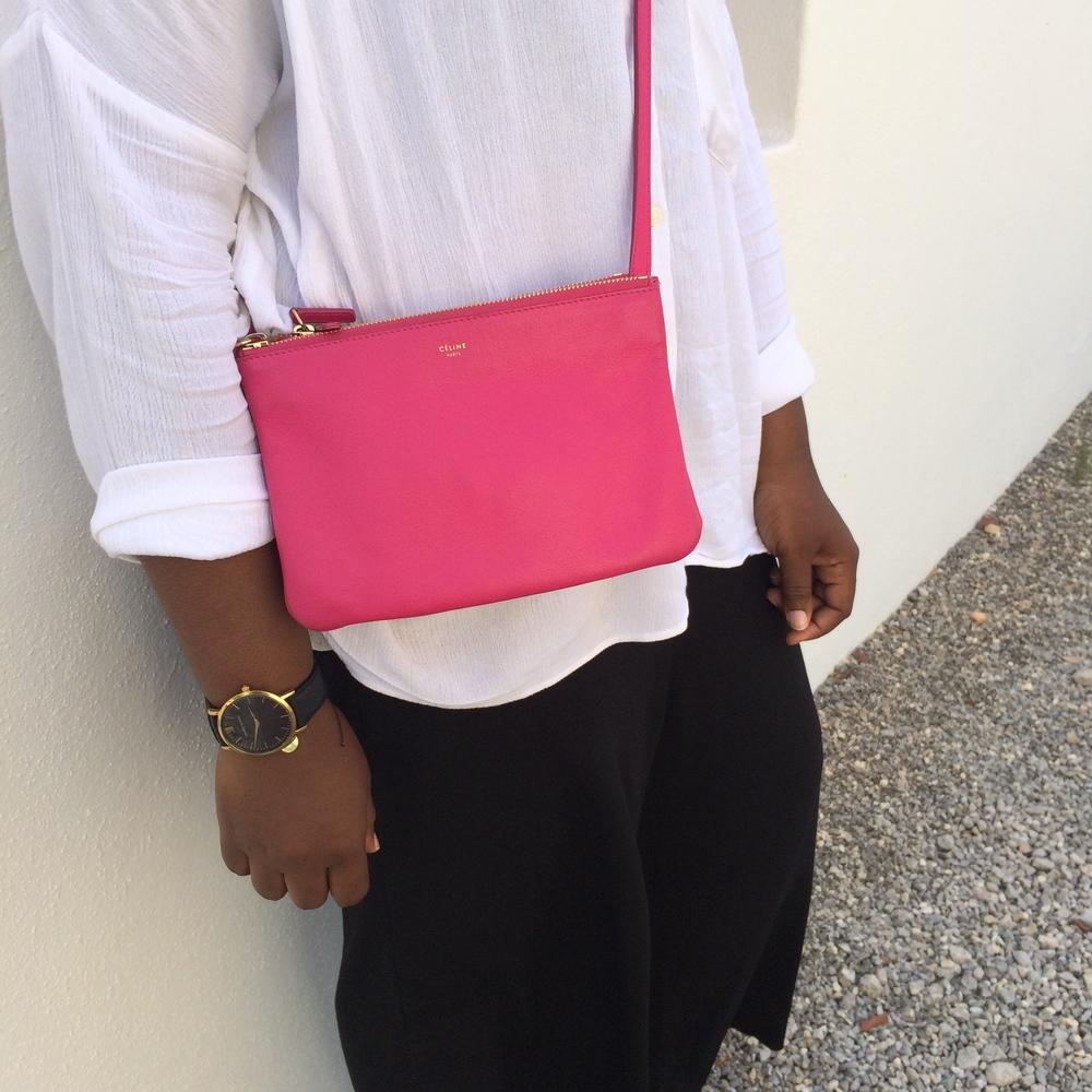 I wore: HM culottes/ TOPSHOP shirt/CELINE bag LARSSON & JENNINGS WATCH