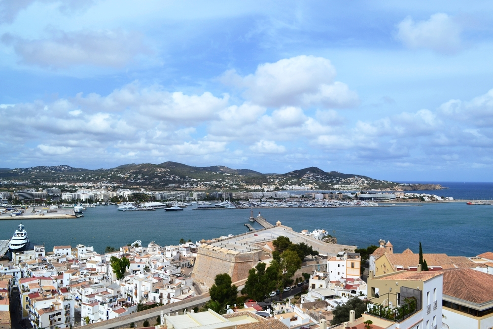 A view from the top of Ciudad Ibiza (Ibiza Town)