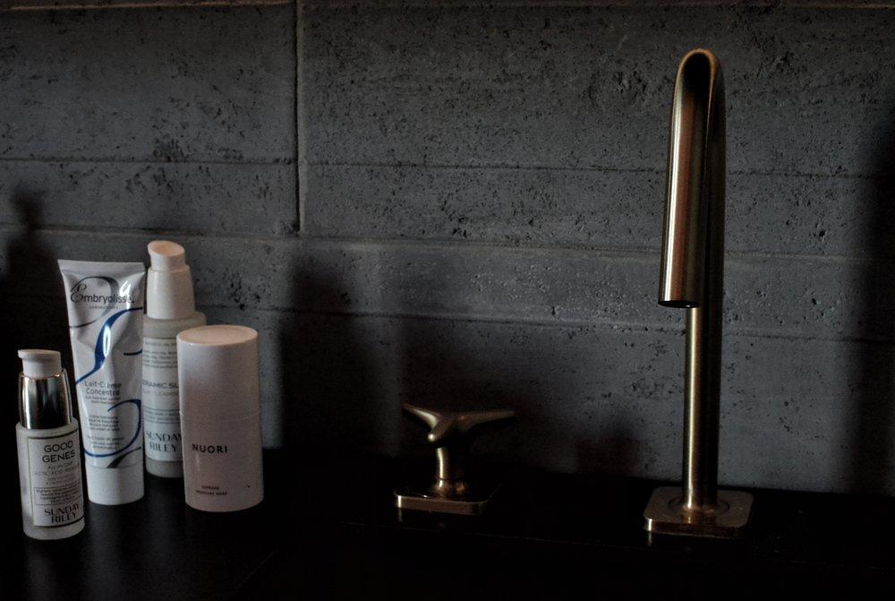 SKINCARE edit:  SUNDAY RILEY  Good Genes,  NUORI  Supreme moisture face mask,  SUNDAY RILEY  Ceramic Slip Clay Moisturiser,  EMBRYOLISSE  cream
