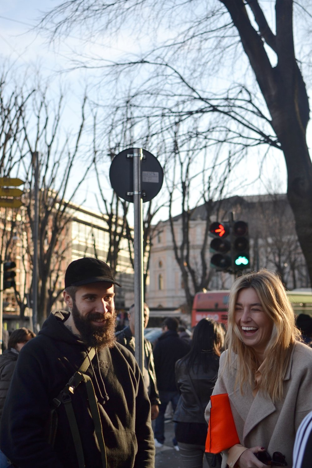 Adam Katz Sinding sharing a moment with Camille Charriere captured on my iPhone