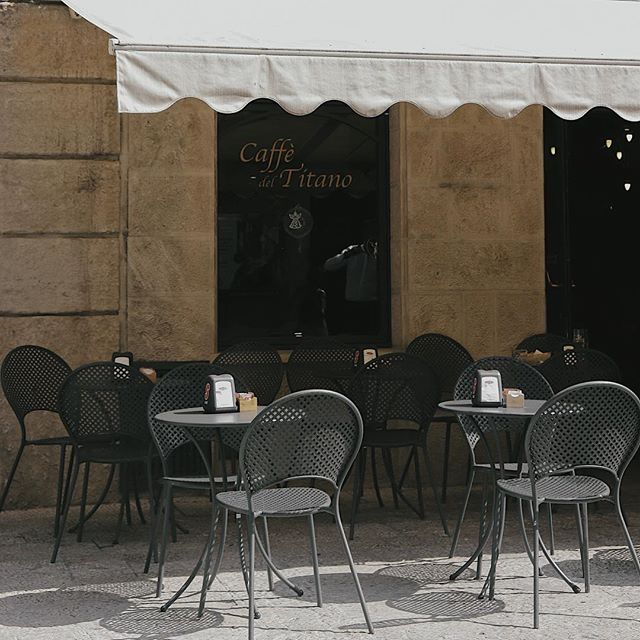 This morning, someone, somewhere is having a coffee whilst sitting outside an Italian style cafe. #SanMarino #thespacesilike #cafehopping