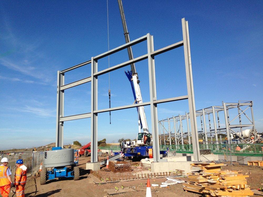 Early steel install Station building-min.JPG