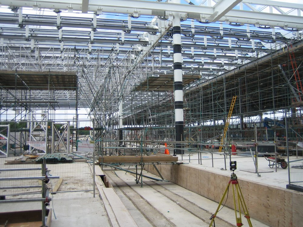 Scaffolding design for Network Rail at St. Pancras Station