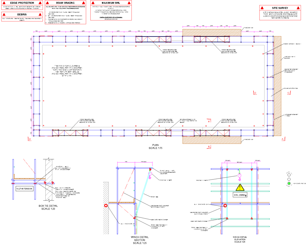 Scaffolding design for the demolition of Carlton House