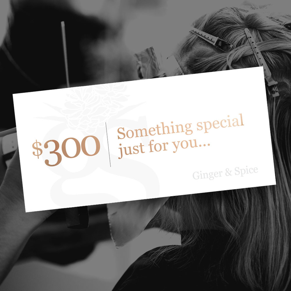 $300+ Gift Voucher - Gift Voucher will be sent digitally via email.