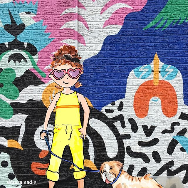 A girl in yellow and her furry fellow 💛🐶 @brolga