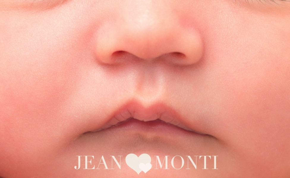 Jean Monti loves to document the smallest details of a newborns lips during a newborn photography session