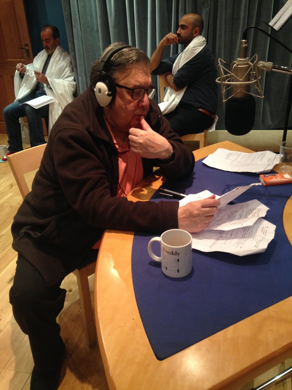 Robert Ashby recording the part of Tarun Maharaj.