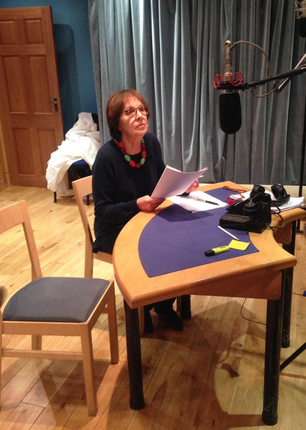 Penelope Wilton recording the part of Margaret.