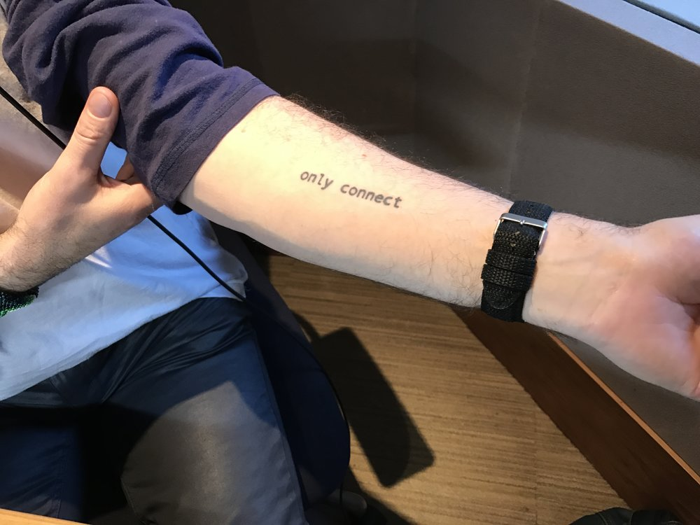 Alan Cumming's E.M. Forster tattoo.