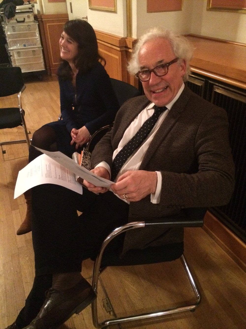 Simon Callow at City Hall in Berlin.