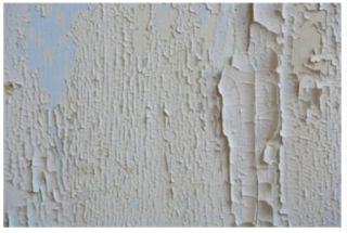 Example of reaction of oil paint on top of latex. Photo source: http://www.doityourself.com/