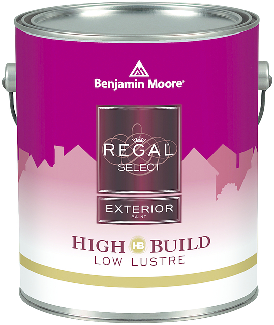 REGAL® SELECT EXTERIOR PAINT – HIGH BUILD - REGAL Select Exterior High Build is a premium waterborne acrylic paint tinted on our proprietary Gennex colorant system. It offers a thick, high-build formula engineered for optimum hide and fewer coats. With easy application by brush or spray, this coating offers excellent flow and levelling and the superior performance you expect from the REGAL name for your exterior projects.