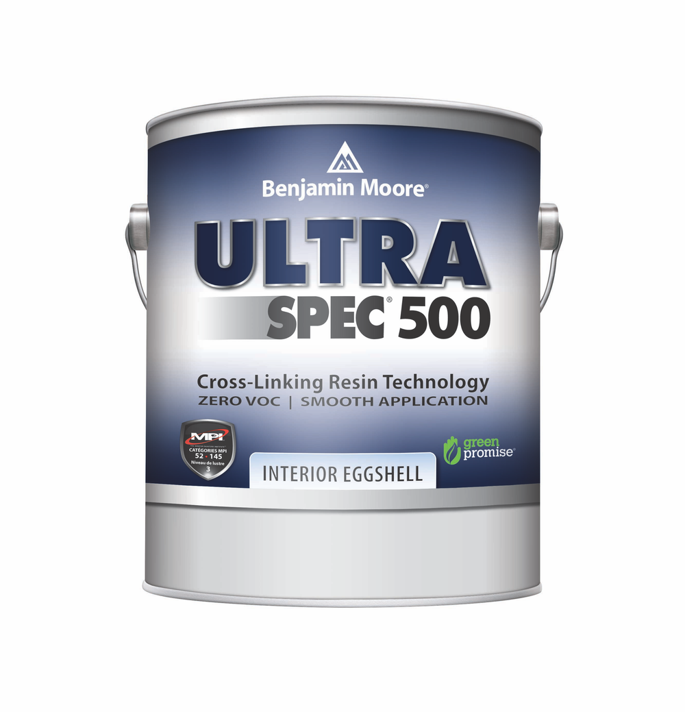 ULTRA SPEC® 500 INTERIOR PAINT - Zero-VOC Ultra Spec 500 is a professional-quality interior coating designed to meet the needs of professional painting contractors, facility managers, and property managers. Available in a wide range of sheens and unlimited colours, professionals will appreciate its excellent hiding and touch-up properties, good flow and levelling, easy application, and soap-and-water cleanup.