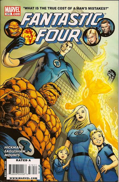 Fantastic Four 570 (FLAME ON)