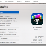 Launching PhotoSync