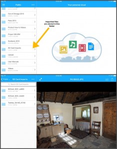 The WD MyCloud app allows me to view my images from my iPhone and/or iPad.