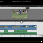 Premiere Elements 14 Workspace showing multiple timelines for video and audio - screenshot from Steve Grisetti's lynda.com course.