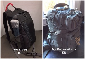Camera Bag and Flash Bag