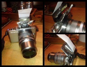 Olympus PL3 Flash Modifier