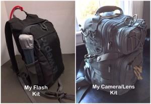 Camera Bag and Flash Bag