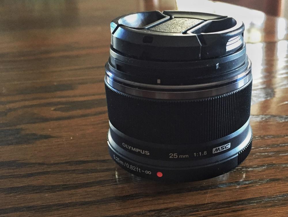Olympus 25mm, f/1.8