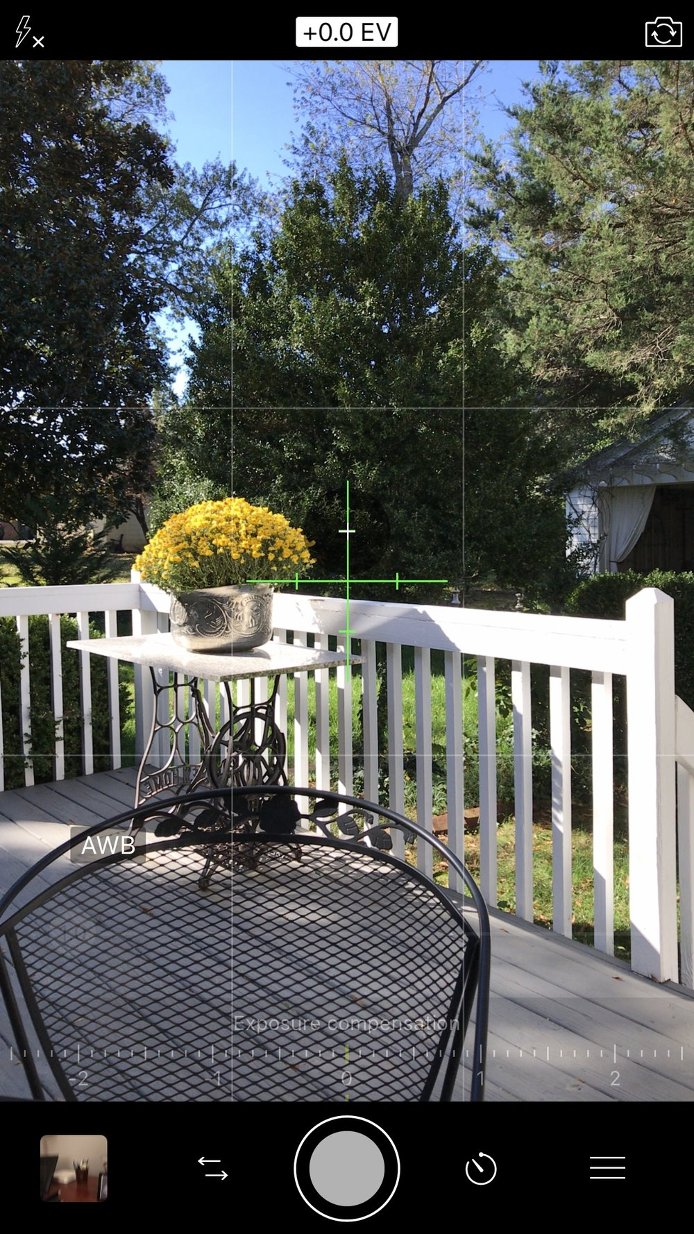 Establishing level: horizontal and vertical using  ProCamera  app