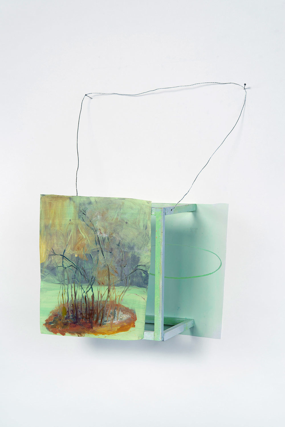 Possibly Now III   Oil on plastic and wood, wire 21 × 13 × 6.5 inches 53 × 33 × 16 cm 2013