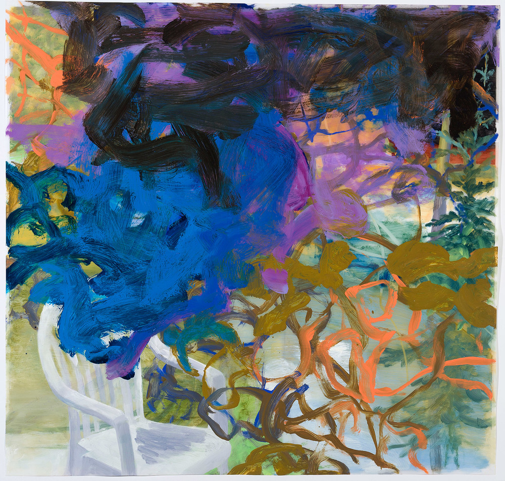 The Temperature of the Air II   23 × 24 inches 60 × 62 cm Oil on polyester 2012