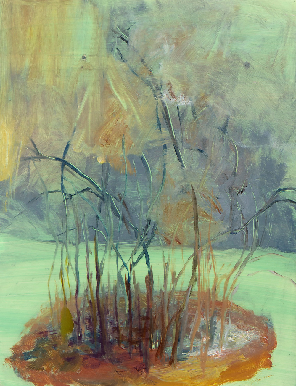 Possibly Now III  (detail)  Oil on plastic and wood, wire 21 × 13 × 6.5 inches 53 × 33 × 16 cm 2013