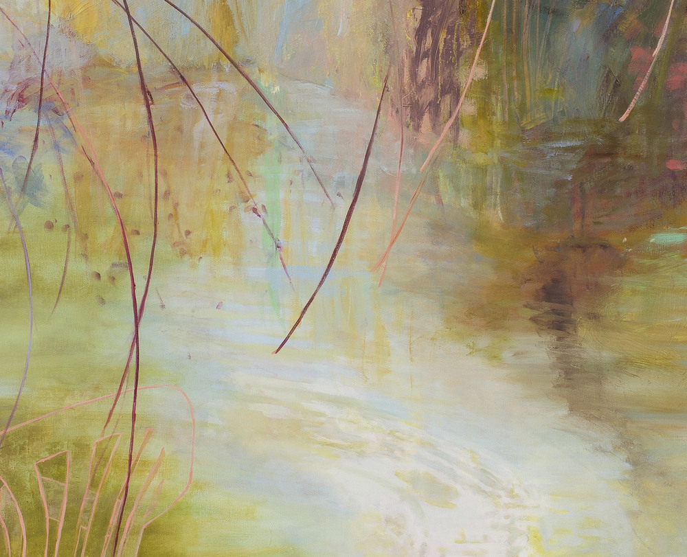 The Temperature of the Air V  (detail)  Upper panel: 29 × 57 inches 73.7 × 144.8 cm Lower panel: 55 × 57 inches 139.7 × 144.8 cm Total dimensions: 85 × 57 inches 215 × 146 cm Oil on canvas 2013