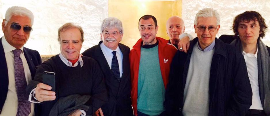 Rimpatriata organizzata da Maietto, Montesano, Razzi, i registiGarrone, Martino e il miticoCruciani.