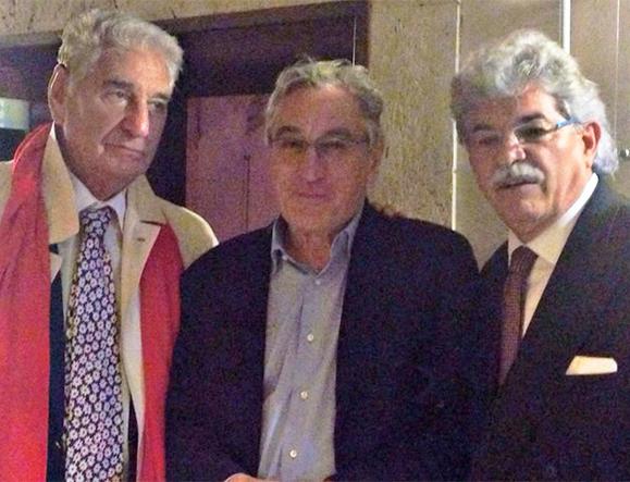 Carlo Maietto con Robert De Niro e Antonio Razzi. Roma, Novembre 2014.