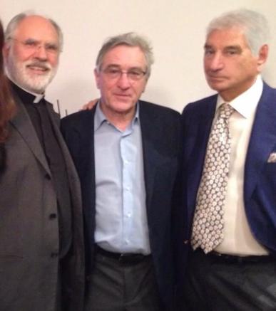 Don Sergio Mercanzin, Robert De Niro, e Carlo Maietto. Novembre 2014.