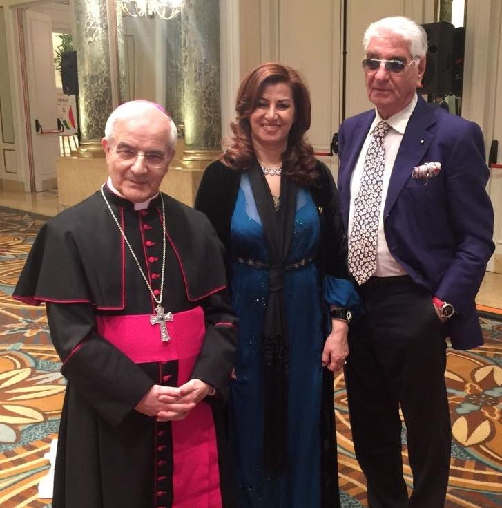 Vescovo GIANFRANCO GIROTTI e L'ambasciatrice curda REZAN KADER