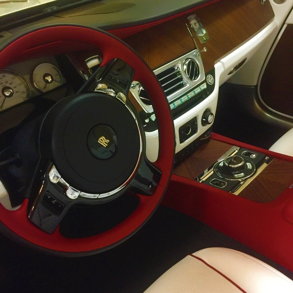 The fine, red leather interior of Carol H.'s car inspired her to create a custom bag to match.