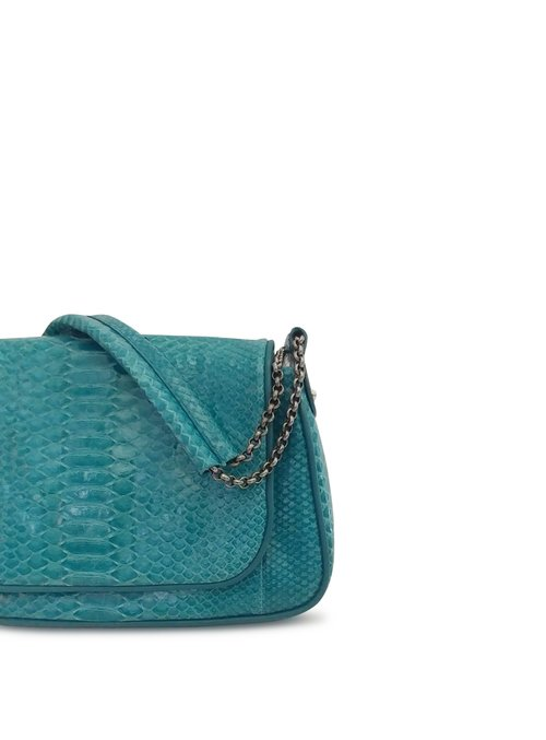 fc1780432a Anthony Luciano custom Gabby Shoulder Bag - Glazed Turquoise Python